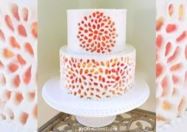 Carved Buttercream cake decorating video tutorial by MyCakeSchool.com