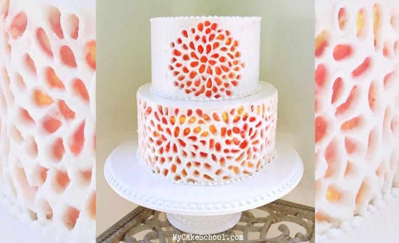 Carved Buttercream cake decorating video tutorial by MyCakeSchool.com