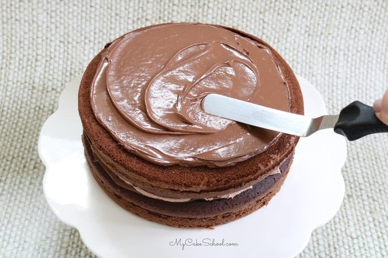 This delicious Chocolate Nutella Cake consists of chocolate layers and a filling of Nutella and Nutella buttercream.