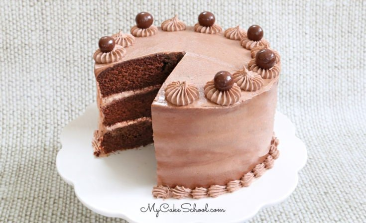 This Decadent Chocolate Nutella Cake is so moist and delicious! It has the perfect balance of chocolate and hazelnuts!