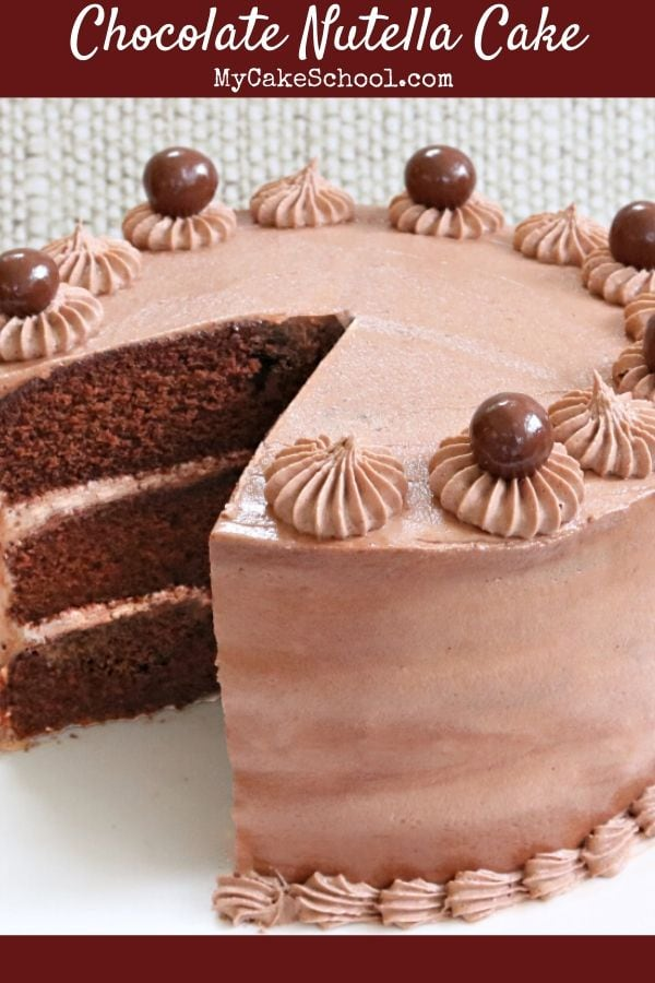 This Moist and Delicious Chocolate Nutella Cake has the perfect balance of chocolate and hazelnuts!