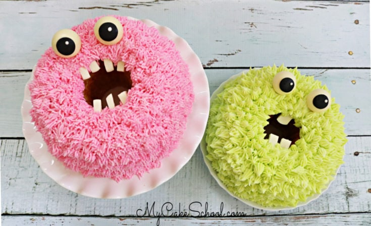 Monster Bundt Cakes- A Free Cake Tutorial!