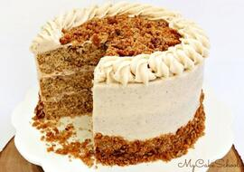 Delicious Pecan Spice Layer Cake! This scratch recipe is perfect for the holidays!