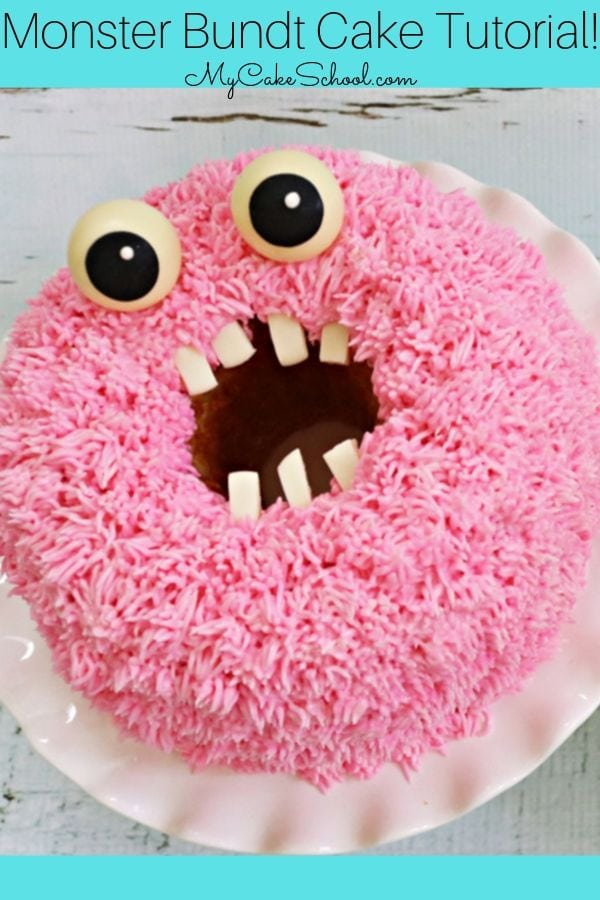 Funny Monster Bundt Cakes- Free Video Tutorial
