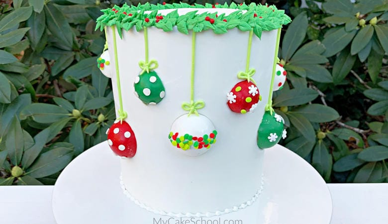 Hanging Ornaments Cake