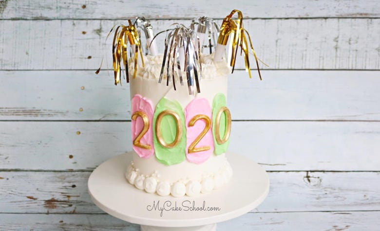 Cute and Easy New Year's Eve Cake Tutorial