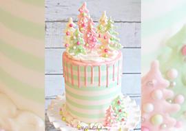 Pastel Christmas Cake
