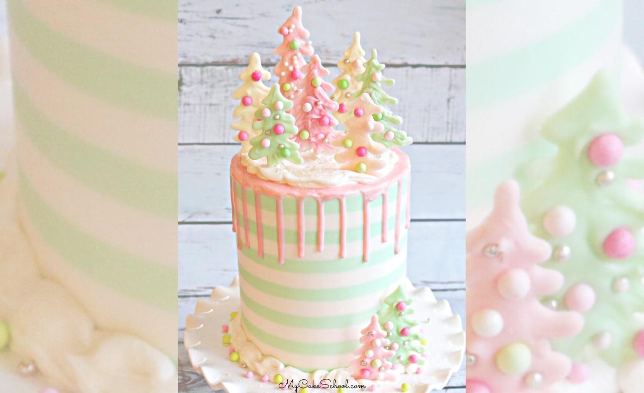 Pastel Christmas Cake Video Tutorial