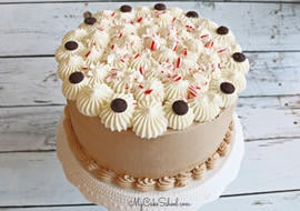 Moist and Delicious Peppermint Mocha Layer Cake Recipe
