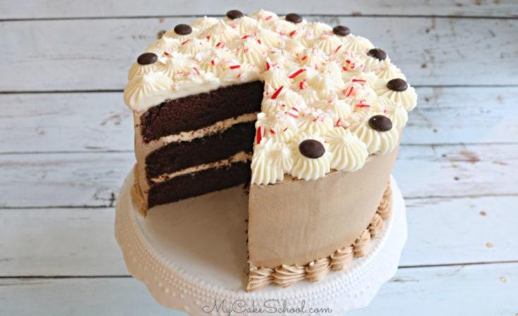 Peppermint Mocha Cake