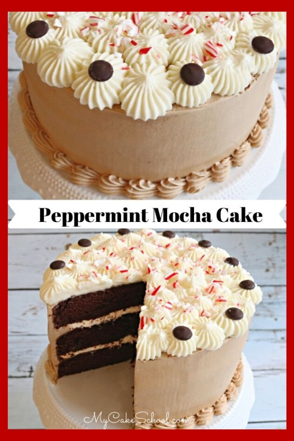 This Peppermint Mocha Cake Recipe is the BEST!