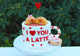 I Love You a Latte- Cake Video Tutorial