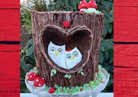 Sweet Woodland Owls Cake Tutorial