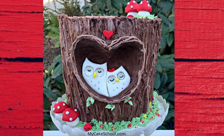 Sweet Woodland Owls Cake