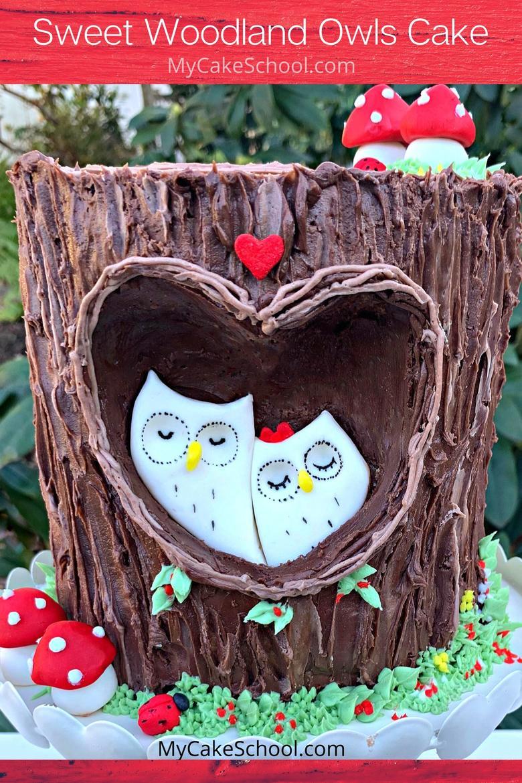 Sweet Woodland Owls Cake Tutorial