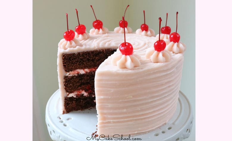 This DELICIOUS Chocolate Covered Cherry Cake has the perfect flavor combination of chocolate and cherries!