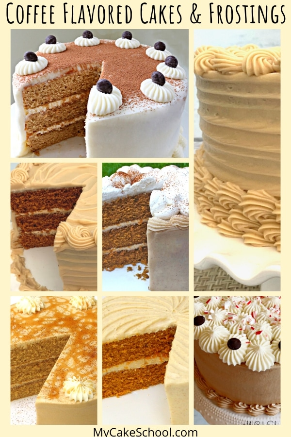 Coffee Flavored Cakes and Frostings! These recipes are the best!