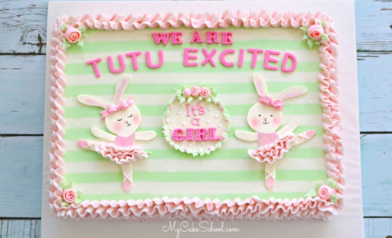 This Ballet Themed Baby Shower Cake is perfect for Little Girls!