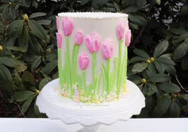 Buttercream Tulip Cake Decorating Video Tutorial