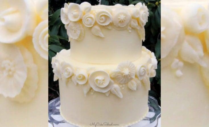 Elegant White Buttercream Flowers- A Cake Video Tutorial