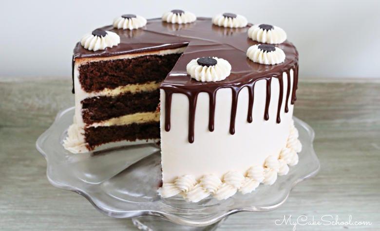 This amazing Baileys Irish Cream Chocolate Cake is decadent, super moist, and has wonderful flavor!