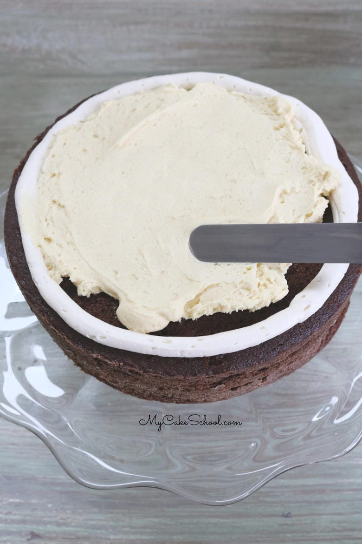 Baileys Irish Cream Chocolate Cake- This recipe is AMAZING, with decadent chocolate Irish cream cake layers, Irish cream mousse filling, and Irish cream buttercream frosting. Yum!