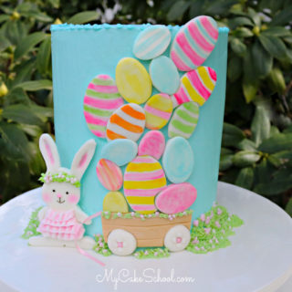 Sweet Bunny and Easter Eggs Cake Tutorial