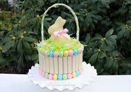 Kit Kat Easter Basket Cake Tutorial