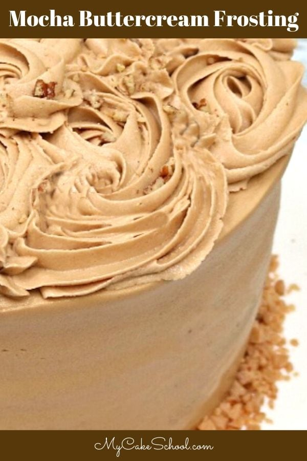 Delicious, Easy Mocha Buttercream Frosting!