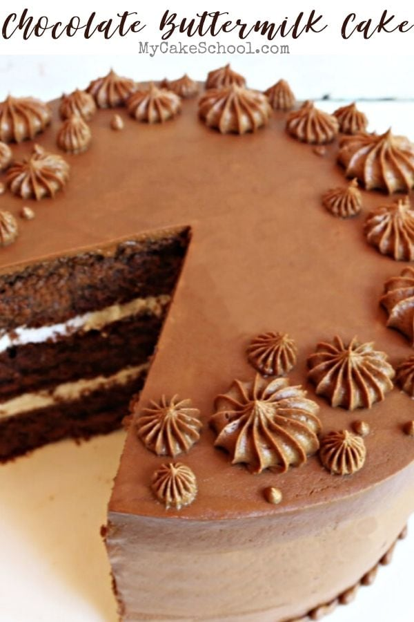 Chocolate Buttermilk Cake Recipe- So moist and Delicious!