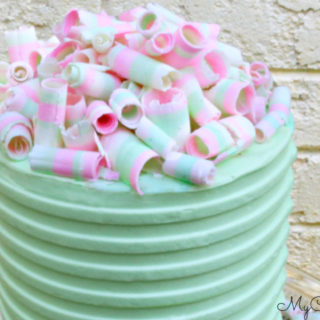 Learn how to make colorful striped chocolate curls!