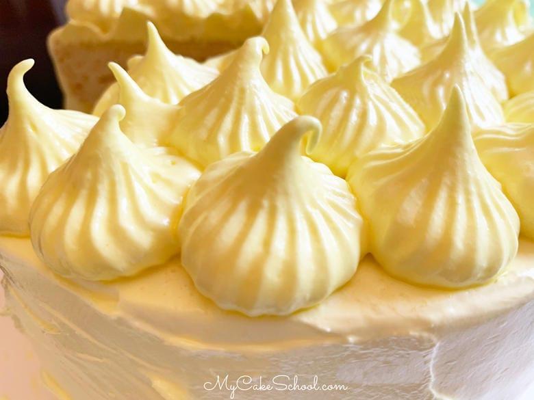 Delicious Lemon Sour Cream Cake with Lemon Seven Minute Frosting