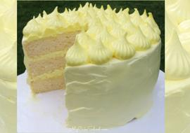 We love this Lemon Sour Cream Cake scratch recipe with Lemon Seven Minute Frosting!