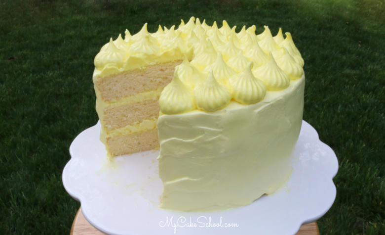 Moist and Delicious Lemon Sour Cream Cake! This recipe is the best!