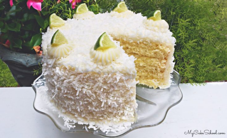 Moist and Delicious Scratch Coconut Lime Cake