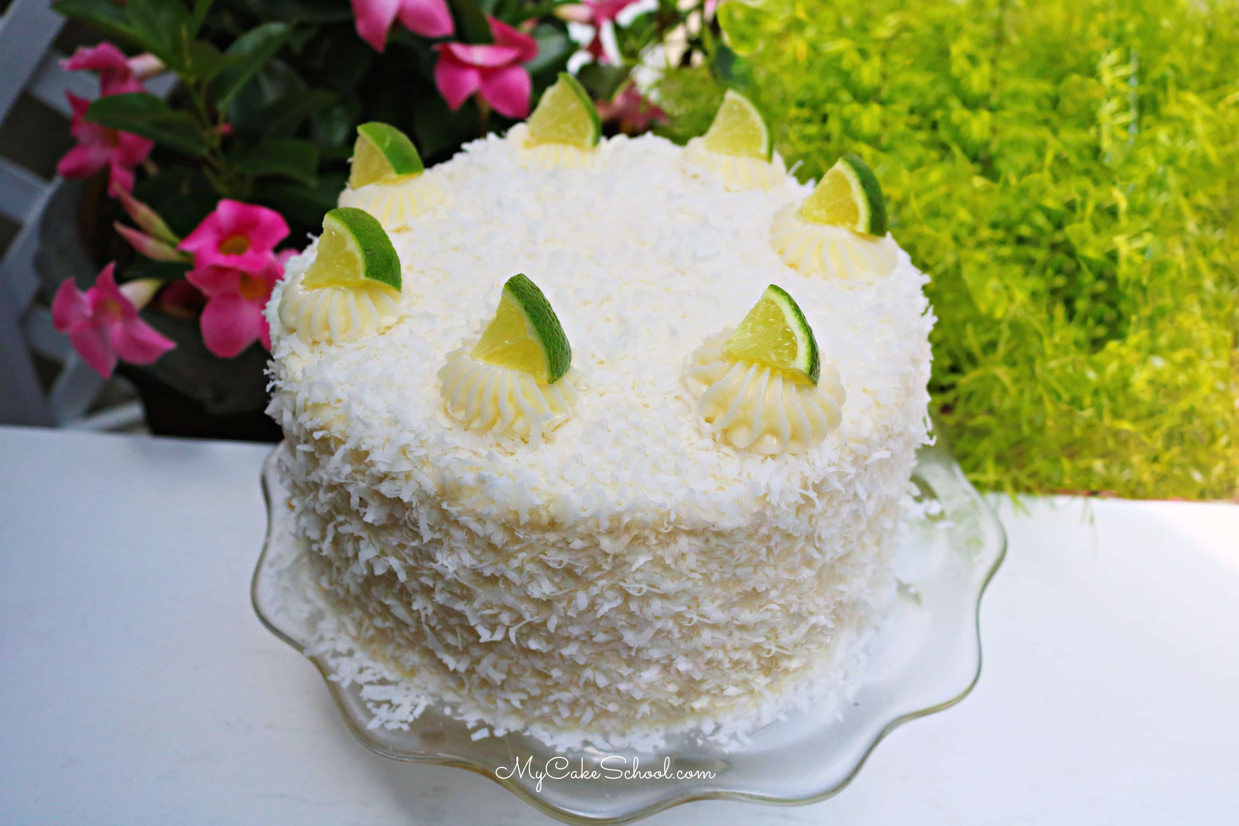 Moist and Flavorful Coconut Lime Cake from Scratch!