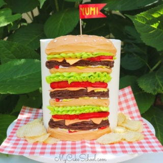 Easy Cheeseburger Cake Tutorial