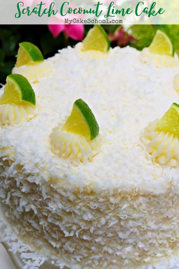 This moist Coconut Lime Cake is so flavorful! Perfect for summer birthdays and gatherings!