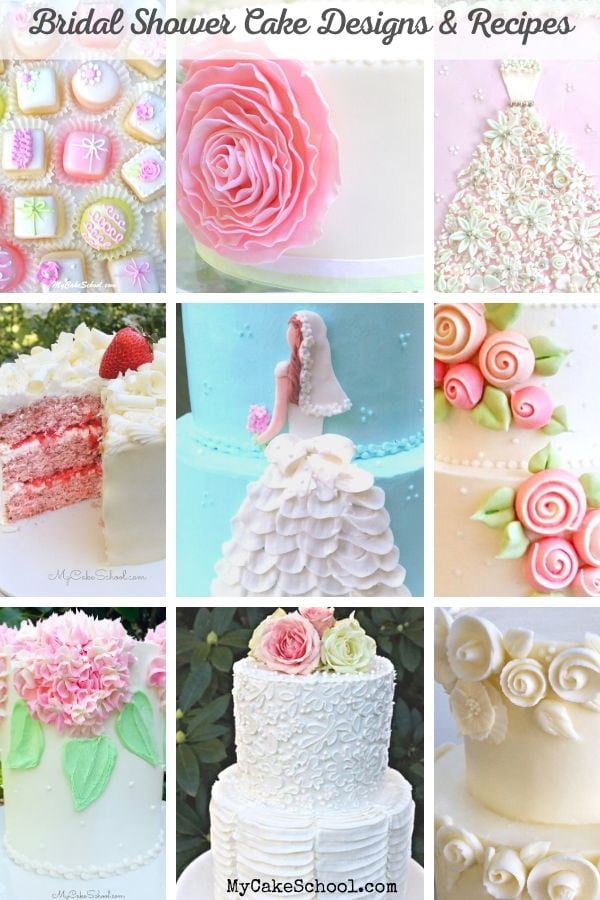Sharing a roundup of beautiful Bridal Shower Cake Designs and Delicious Recipes!