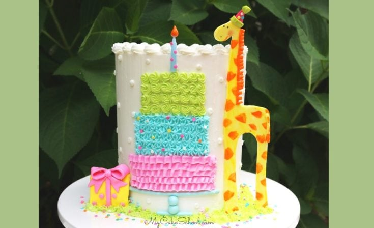 Sweet Giraffe Birthday Cake- A Free Cake Decorating Tutorial