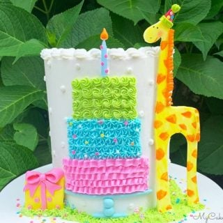 Sweet Giraffe and Birthday Cake- A Free Cake Decorating Tutorial