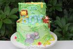 Cute Safari Baby Shower Cake Tutorial