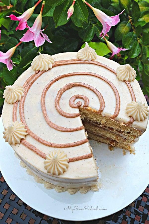 This Cinnamon Bun Cake is so moist and has wonderful flavor from cinnamon and brown sugar!