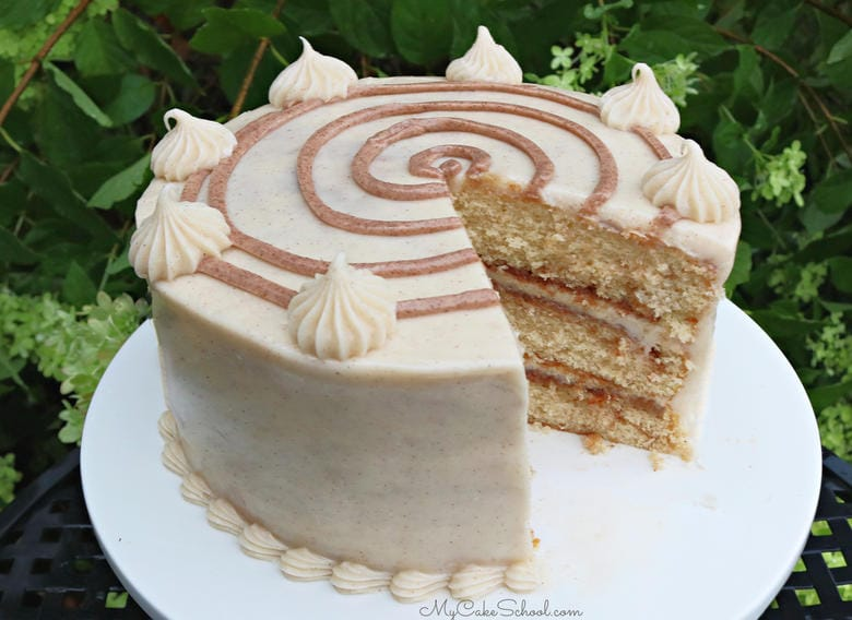 This homemade Cinnamon Roll Cake is super moist and has so much flavor!