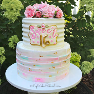Sweet Sixteen Cake Tutorial- My Cake School (member section)