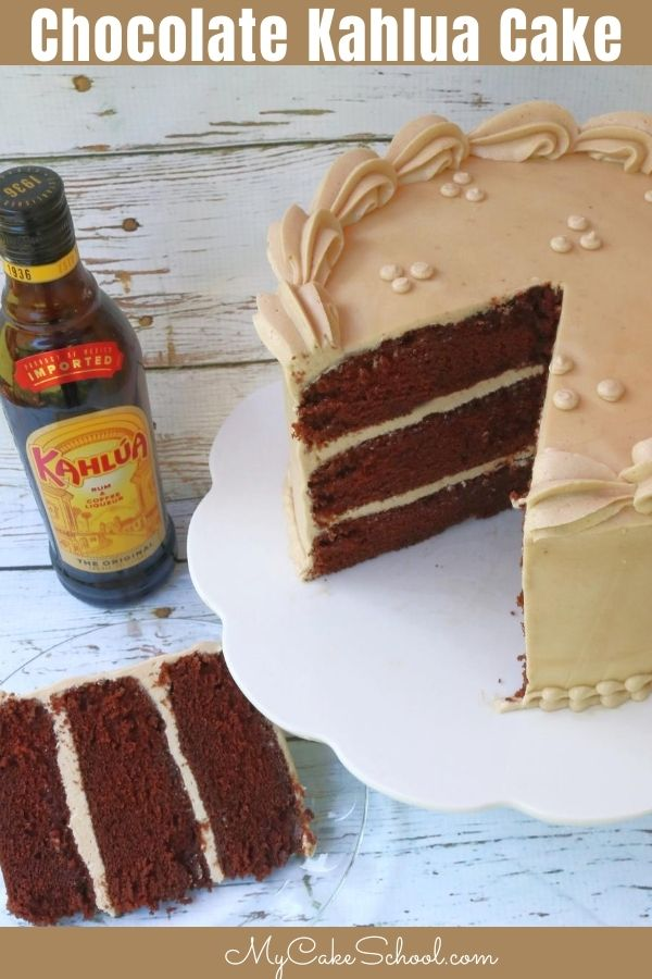 Chocolate Kahlua Cake Recipe- Super moist, decadent, and delicious!