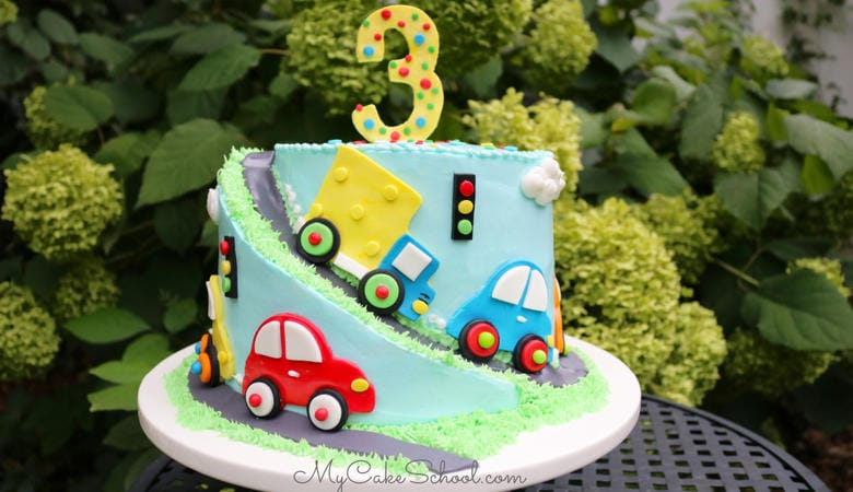 Cars and Trucks! A Cake Tutorial