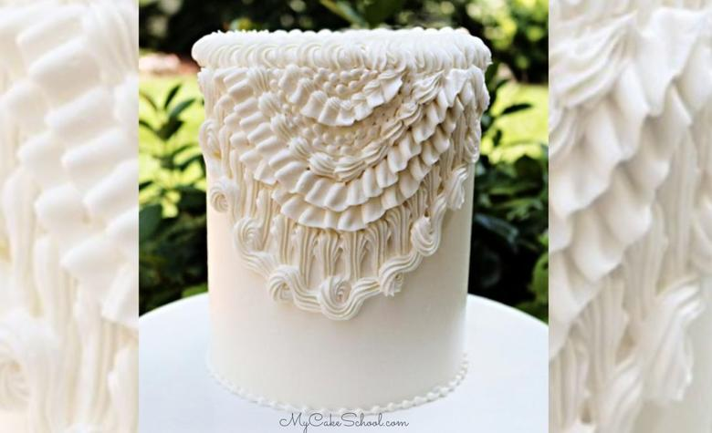 Elegant Vintage Buttercream Piping- A Cake Video Tutorial