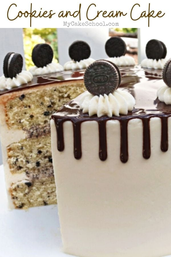 This homemade Cookies and Cream Layer Cake is the best!