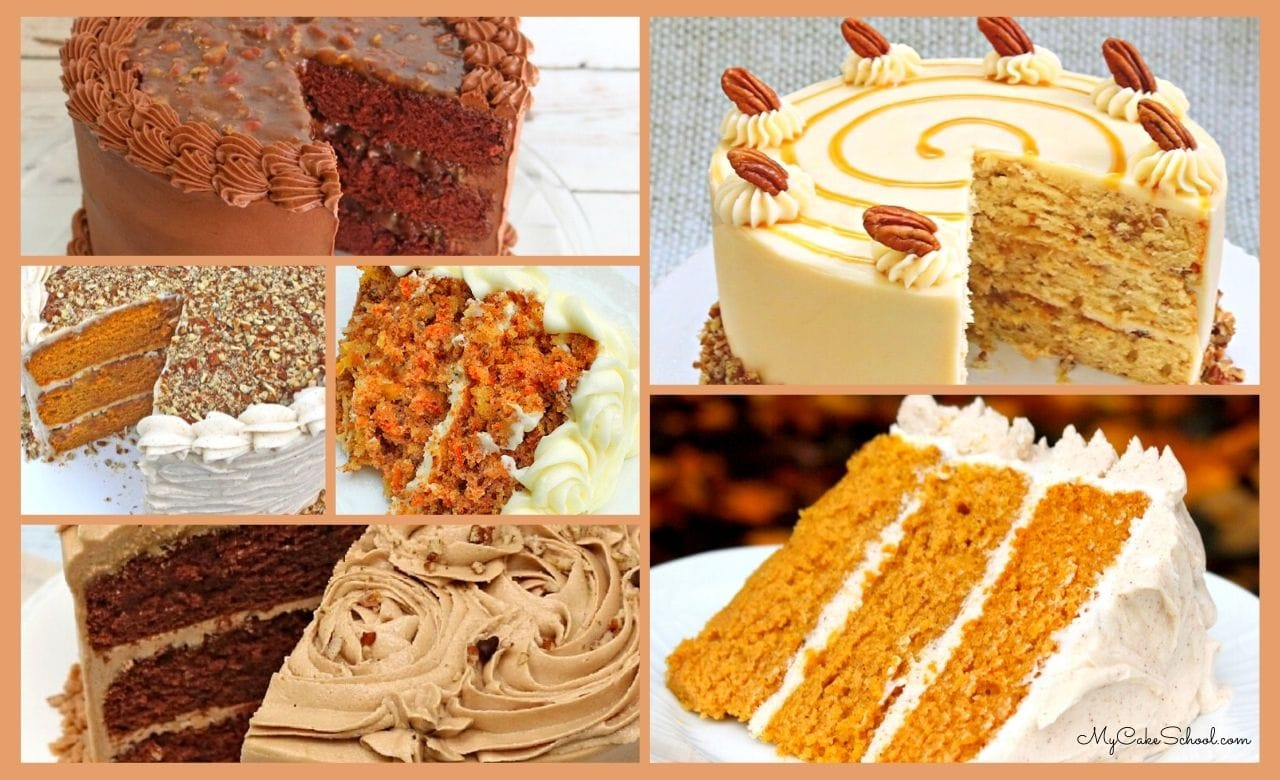 Sharing our BEST Fall Cake Recipes! These fantastic cakes are perfect for fall birthdays, Thanksgiving, and more!